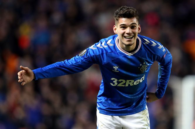 Rangers star Ianis Hagi takes a bow in front of the Ibrox crowd