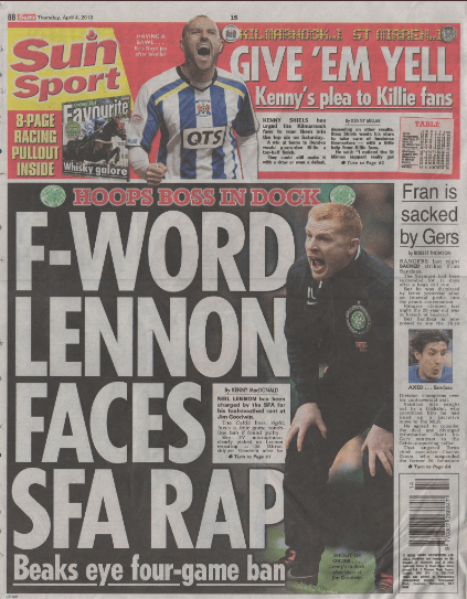 Our last page seven years ago when he was sacked