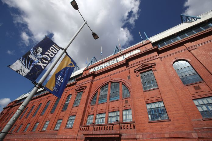 The Rangers won the title in March and have been busy decorating Ibrox ever since
