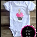 DIY Baby Bling Cupcake Onesie