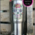 DIY Sugar Skull Bling Yeti Mug