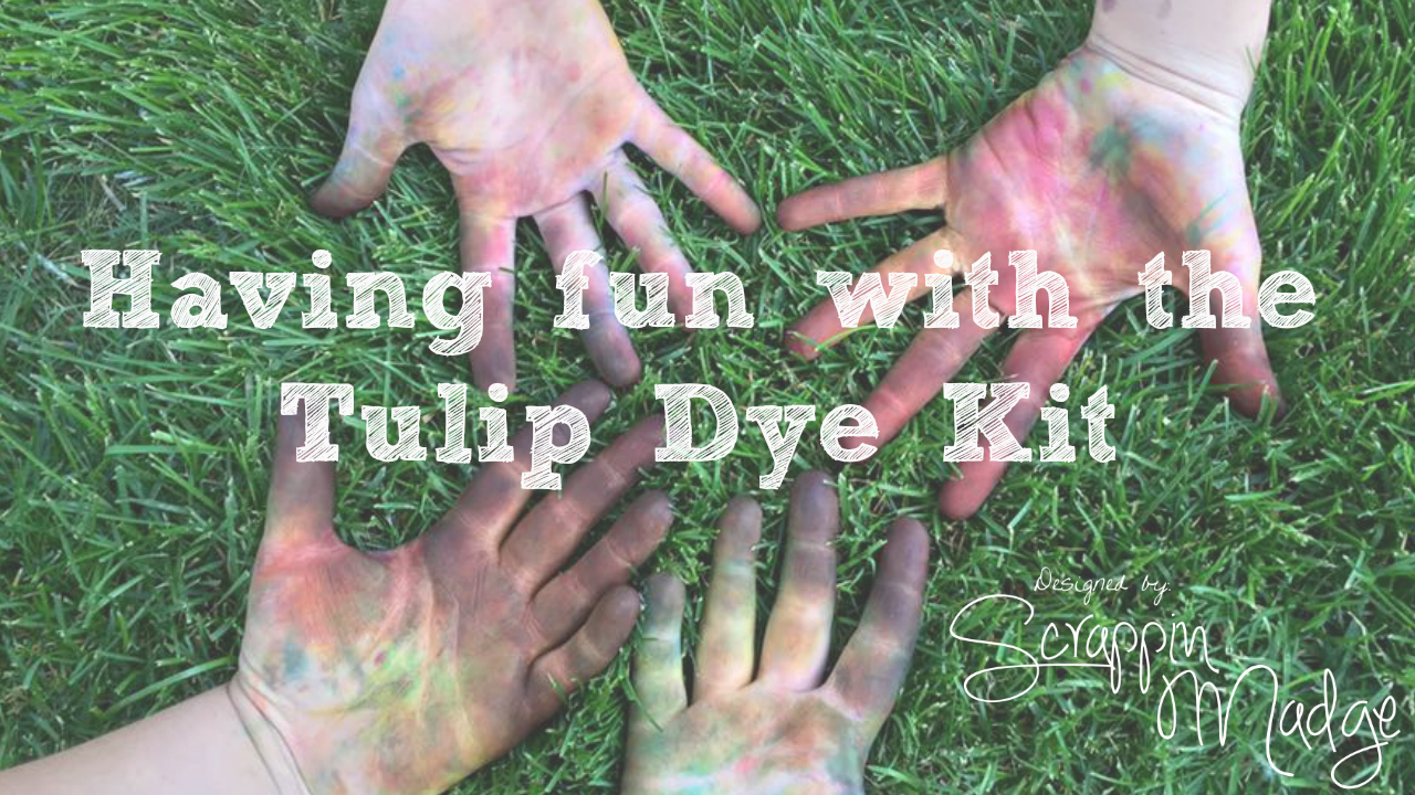 Having fun with the Tulip Dye Kit