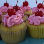 Yellow Cherry Cupcakes