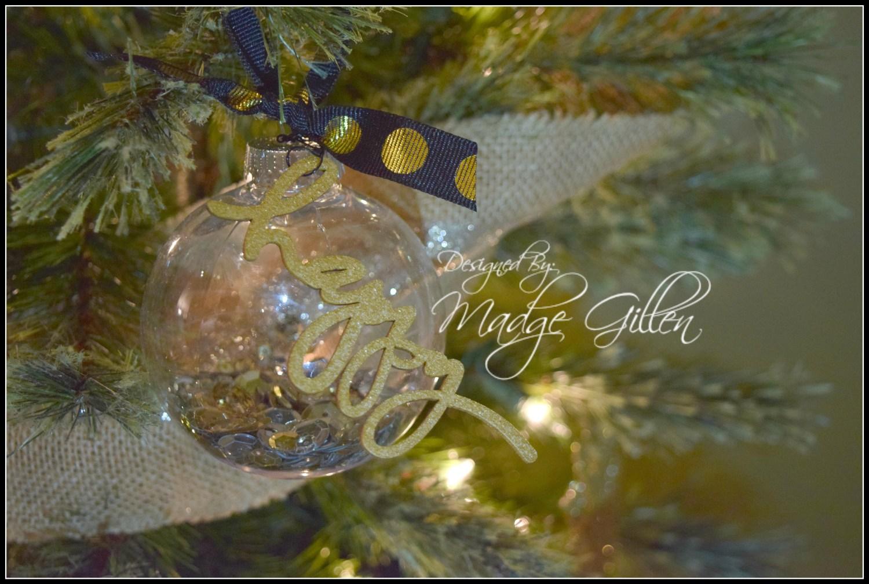 DIY Christmas Ornament Happy.madgegillen2