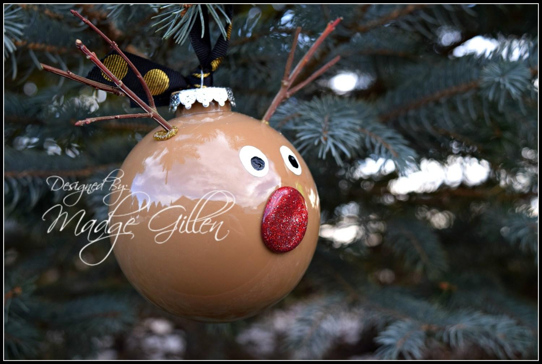 DIY Reindeer Ornament. MadgeGillen2