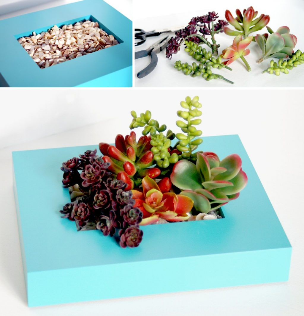 Upcycled frame succulent holder do more for less this particular picture frame has plastic instead of glass if your frame has glass you can simply cover it with a piece of felt to prevent it from being jeuxipadfo Image collections