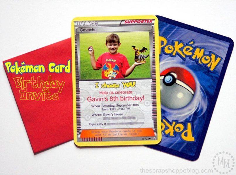 Pokemon Card Birthday Invitation The S Pe
