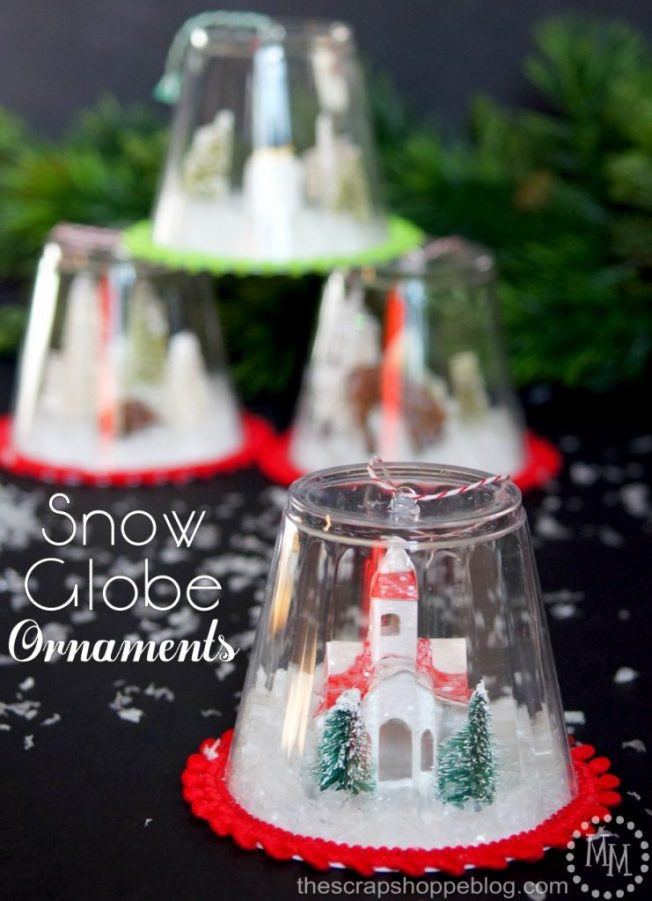 These DIY Snow Globe Ornaments Are A Fun Kid Craft And Be Filled With Just About