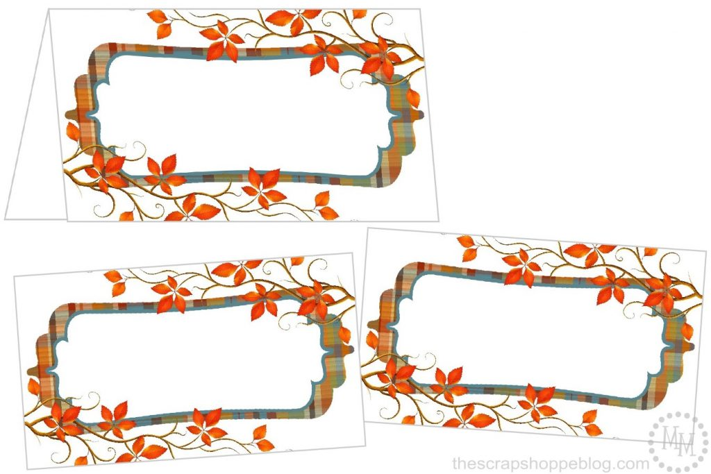 Perfectly Plaid Thanksgiving Place Cards The Scrap Shoppe