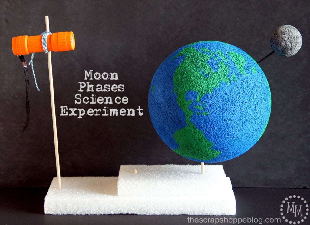 Moon Phases Science Experiment The Scrap Shoppe