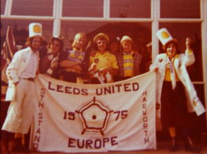 Leeds-fans-in-Paris,-European-Cup-final,-1975,-Leeds-United-v-Bayern-Munich