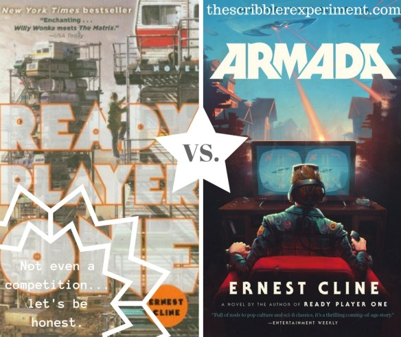 Book Covers of Ready Player One and Armada