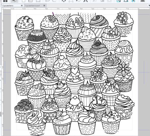 Cupcake Coloring Design