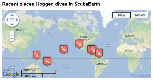 PADI Logged Dives