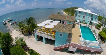 Eagle Ray's Dive Bar & Grill at Compass Point Dive Resort at East End, Grand Cayman.