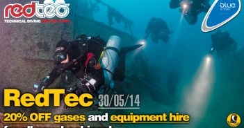 20% OFF gases and equipment hire on upcoming RedTec diving holiday!