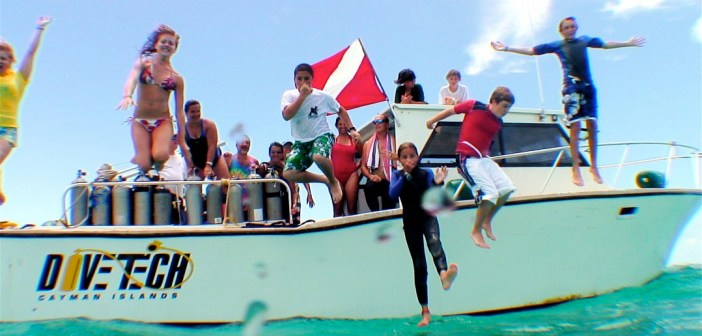 Cayman is the perfect destination for families - a great way to get all family members in the water together. Photo courtesy Divetech