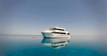 The MV Odyssey in Rowley Shoals, Australia