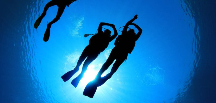 Scuba Diving Students and Instructor