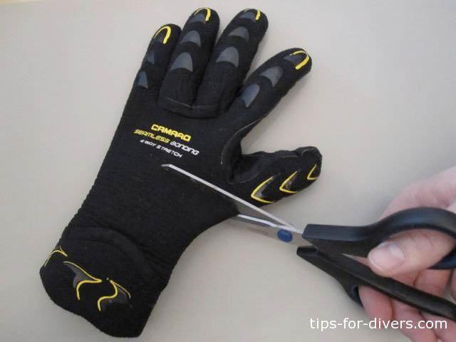 Cut the gloves