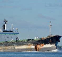 The collision between freighters Alanis and Florence Spirit in the Welland Canal