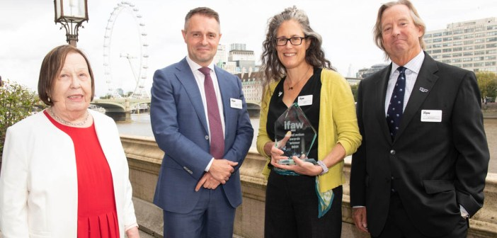 Shark Trust's Ali Hood wins IFAW's Marine Conservation Award