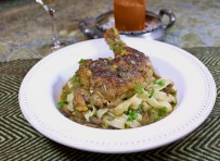 Braised Chicken with Spring Fettuccini