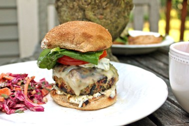 Greek Turkey Burgers with Feta Sauce