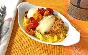 Chicken Parmesan with Pan-Roasted Tomato Sauce & Spaghetti Squas