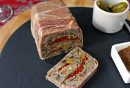 Beef Terrine with Portobello & Roasted Peppers