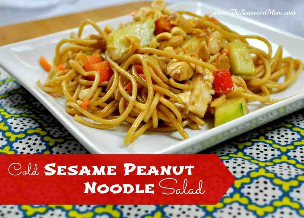 Cold Sesame Peanut Noodle Salad