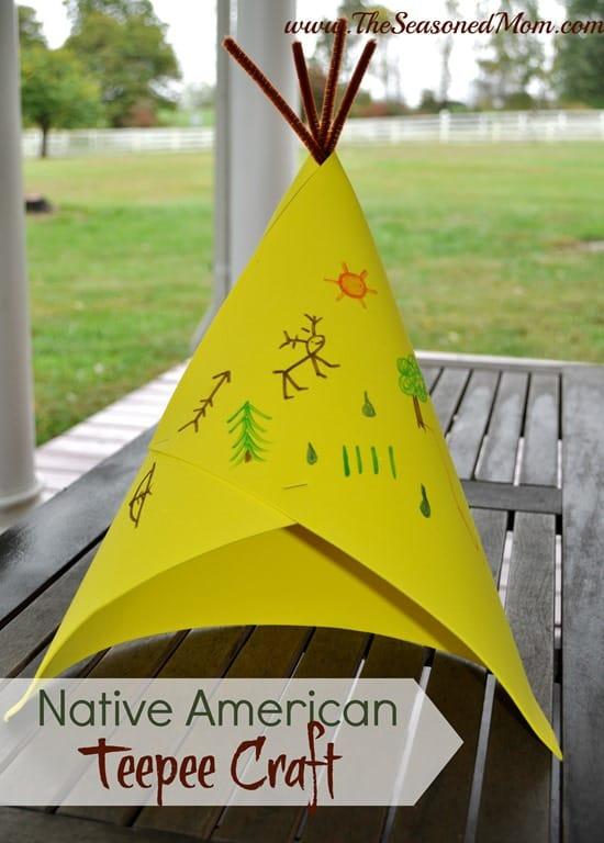 Native American Teepee Craft