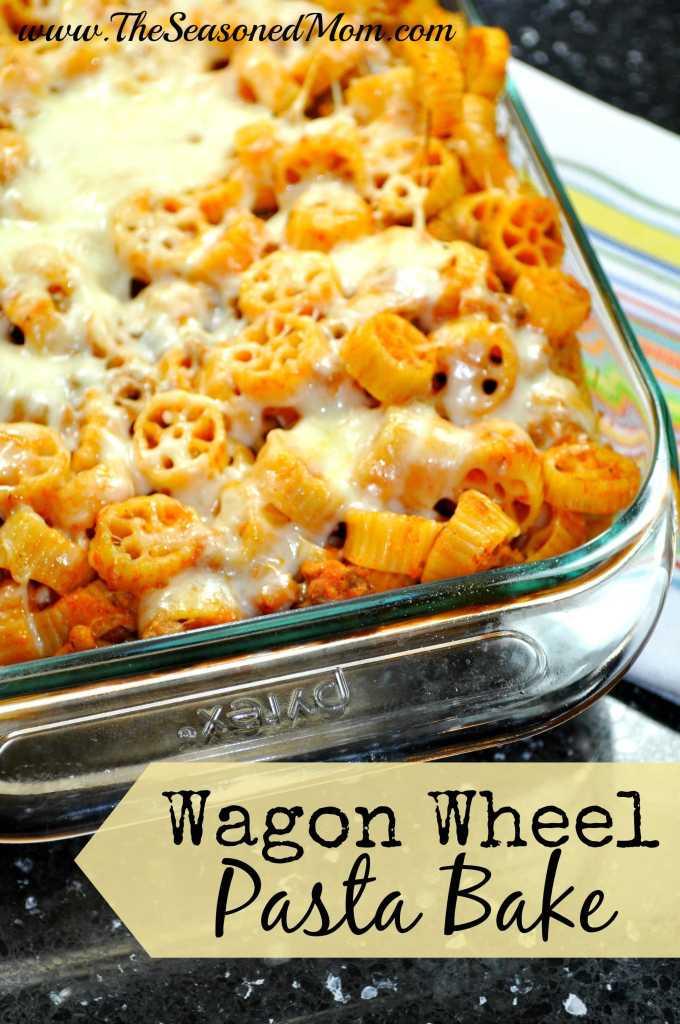Wagon Wheel Pasta Bake