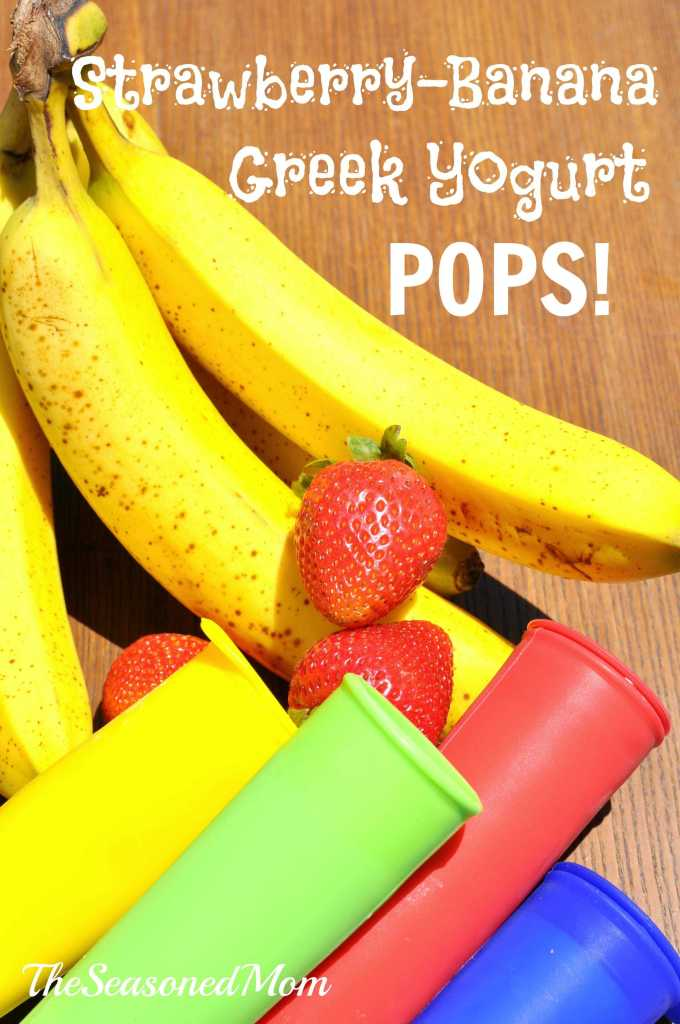 Strawberry-Banana Frozen Greek Yogurt Pops