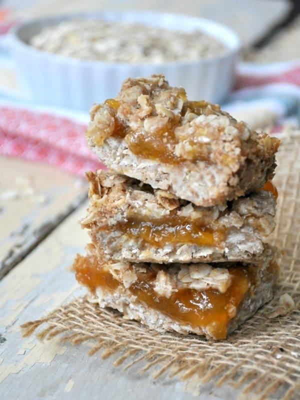 Healthy Peach Jam Bars