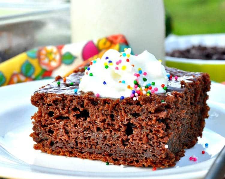 Greek Yogurt Chocolate Zucchini Cake
