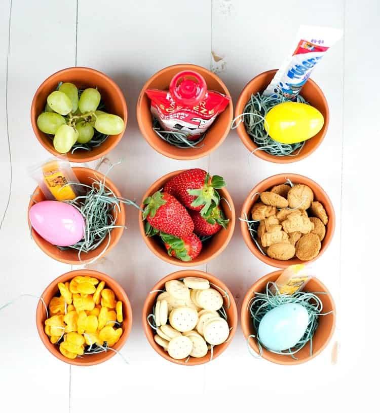 Easter Game for Kids: Easter Egg Snack Toss