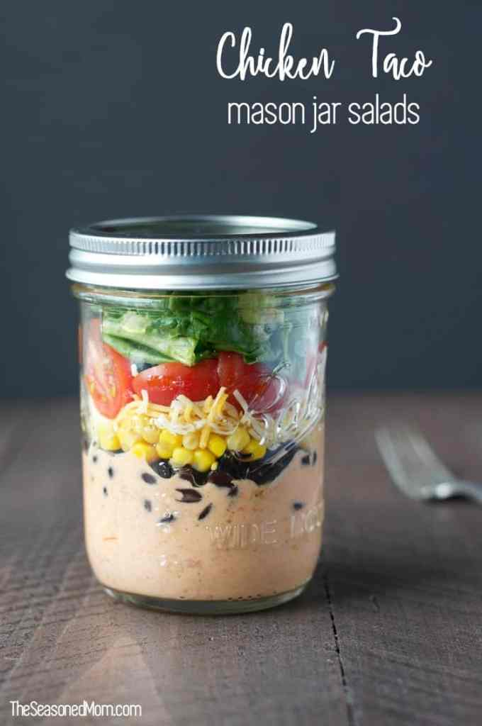 Chicken Taco Mason Jar Salads