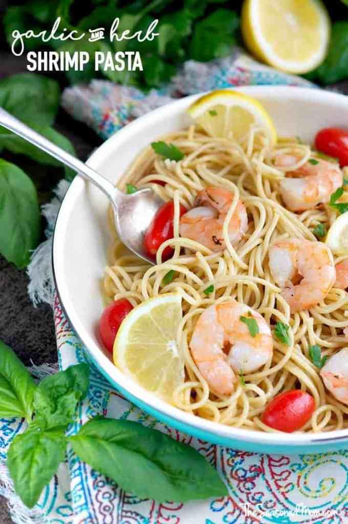 Garlic and Herb Shrimp Pasta