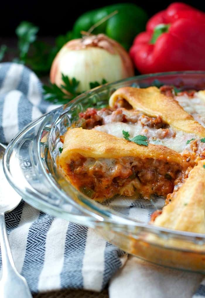 Sausage and Pepperoni Crescent Roll Pizza
