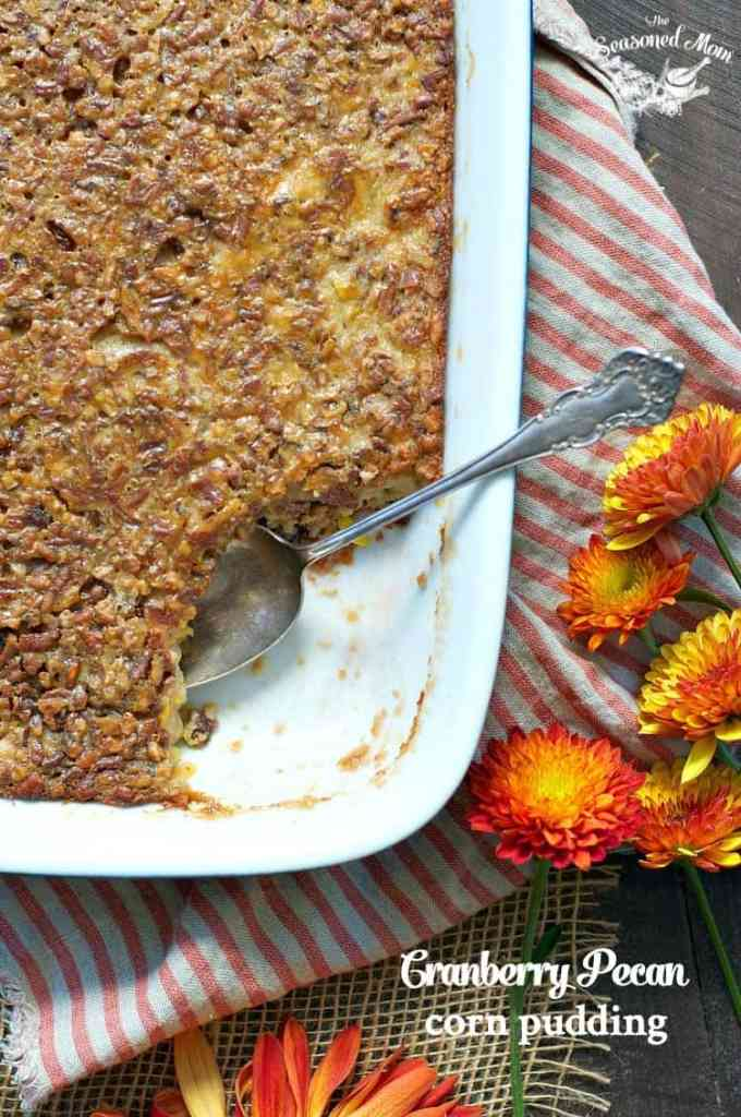 Cranberry Pecan Corn Pudding