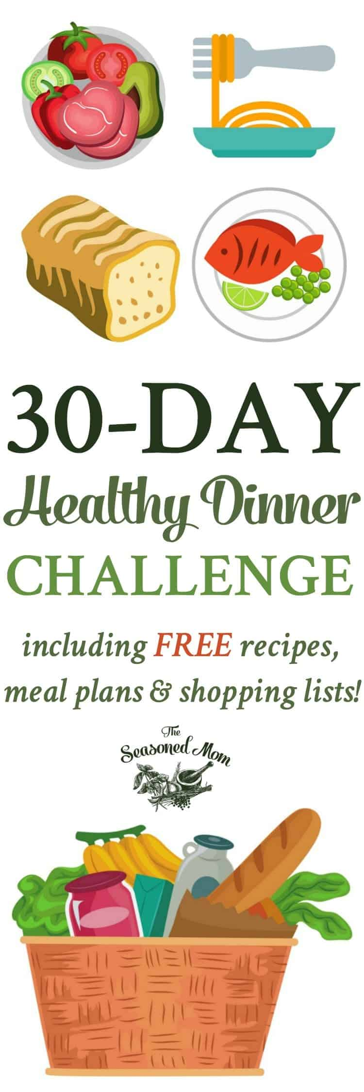 30-Day Healthy Dinner Challenge! Meal Prep Recipes   Meal Prep for the Week   Dinner Ideas   Dinner Recipes   Healthy Dinner Recipes   Healthy Recipes