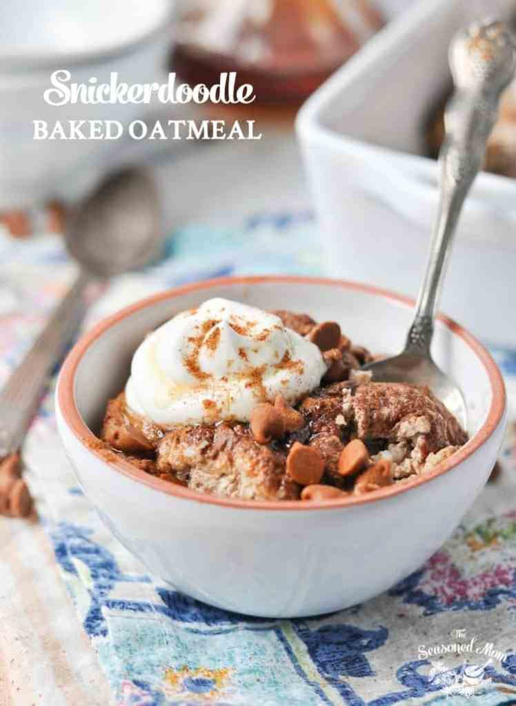 Healthy Snickerdoodle Baked Oatmeal