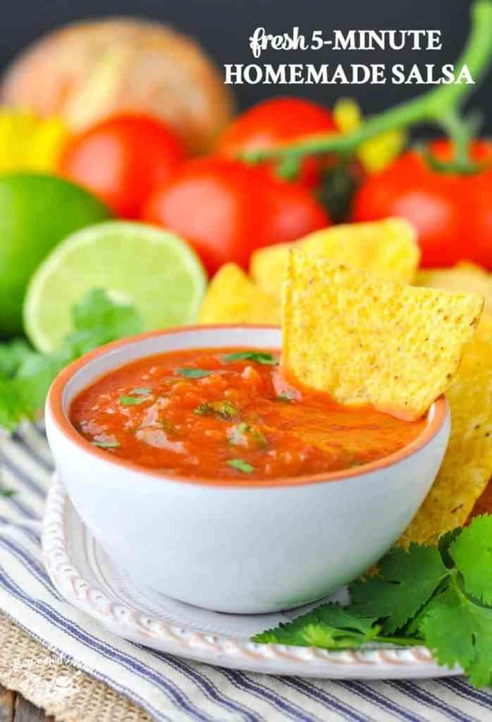 Fresh 5-Minute Homemade Salsa