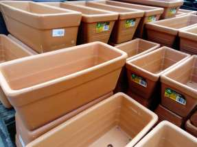 Terracotta troughs