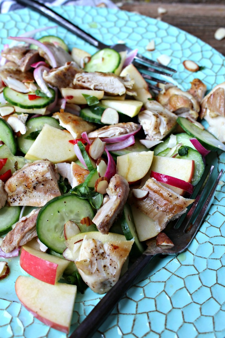 Grilled Chicken and Cucumber Apple Salad