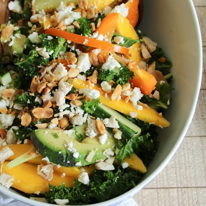 Chopped Kale Salad With Mango Avocado And Lime Vinaigrette The