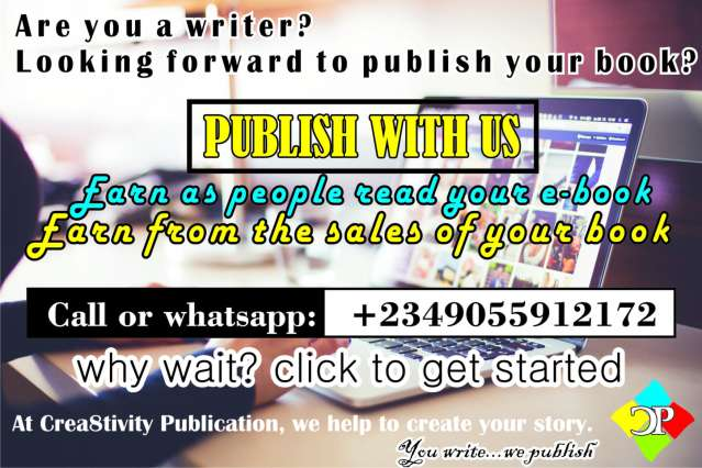 Let help Publish Your Book (Printed and ebook) and still give you a platform to reach your audience and sell your idea.