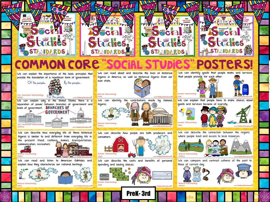 Social Stu S Standards Posters For Any State