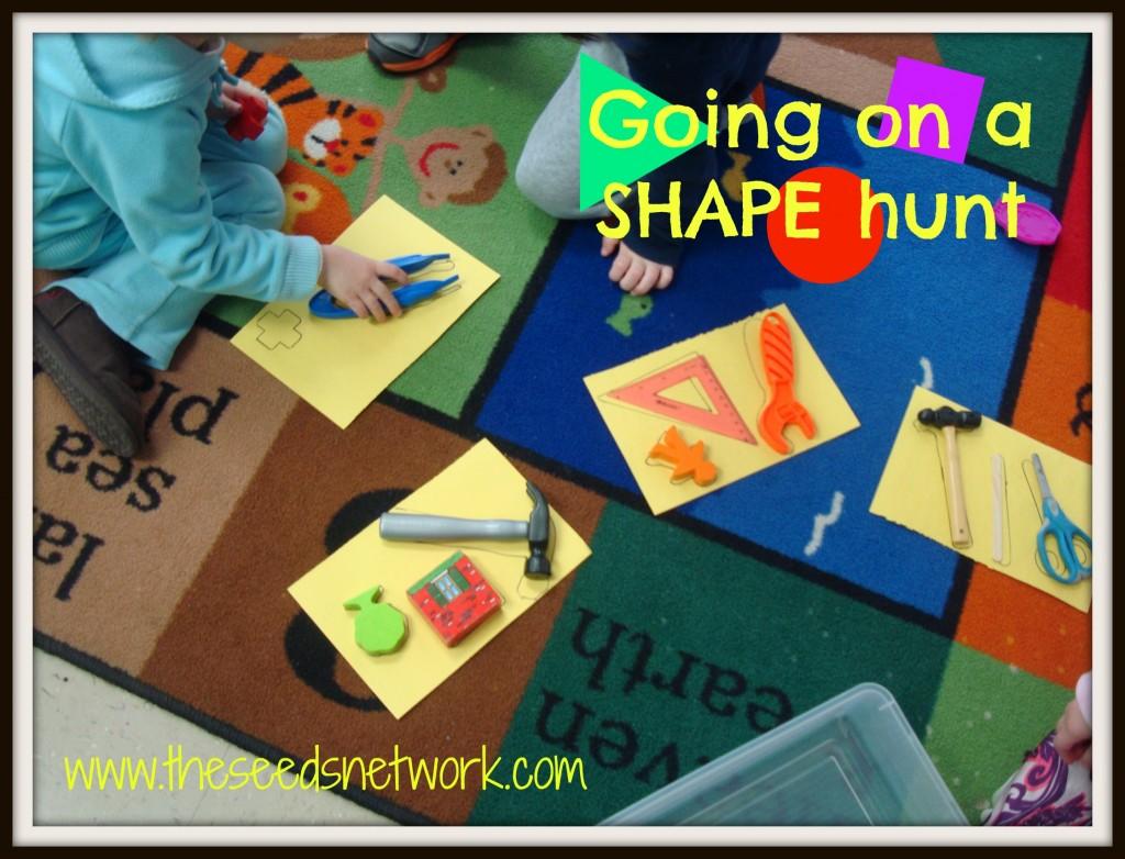 Going On A Shape Hunt In Preschool
